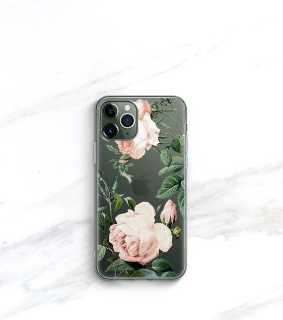 Clear iPhone 11 Pro Max Case Xs Case Floral iPhone 8 Plus | Etsy