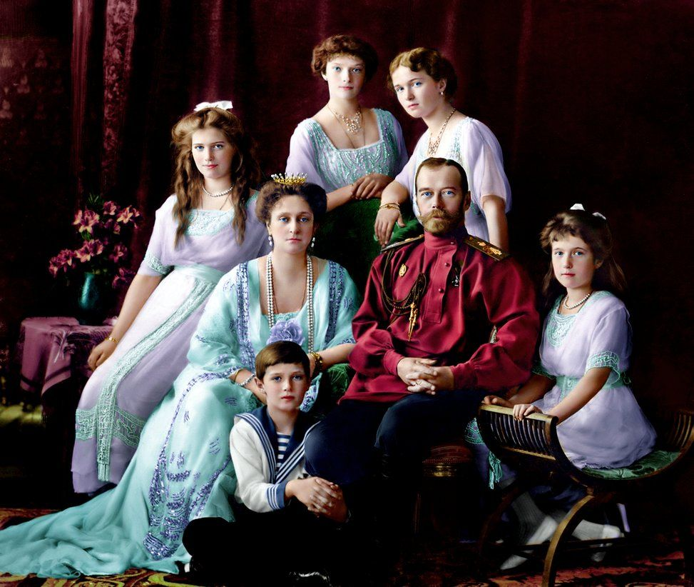 Фотографии царской семьи в цвете