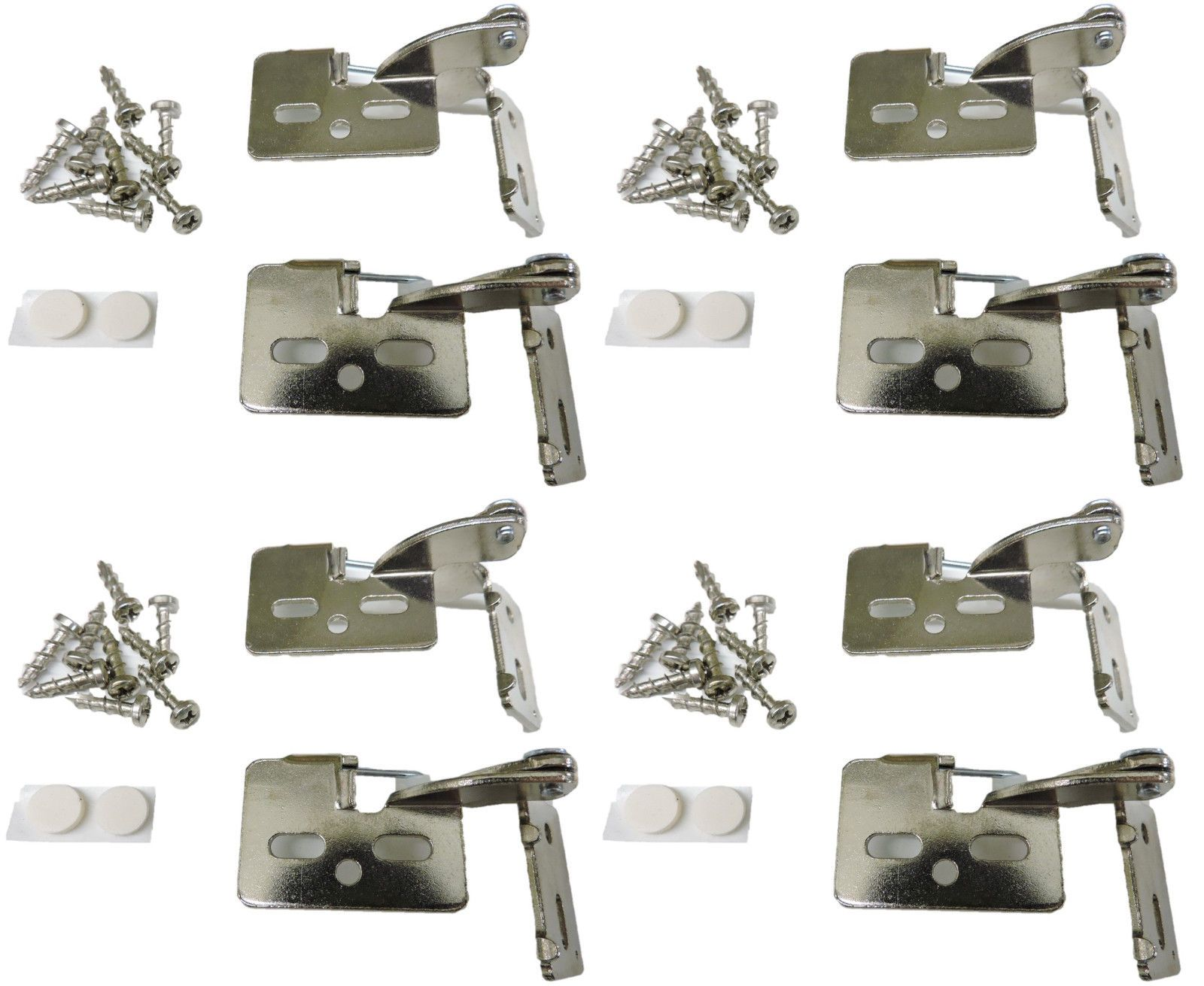 8 Self Closing Hidden Concealed Cabinet Hinge 1 2 Overlay Nickel Youngdale 65 Hinges For Cabinets
