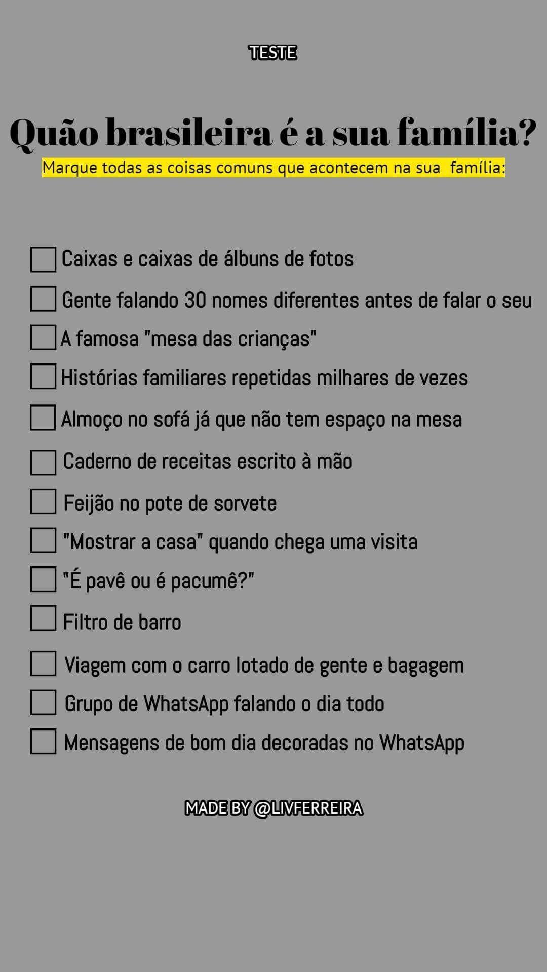 A minha é BEM brasileira só não foi 3 Perguntas para