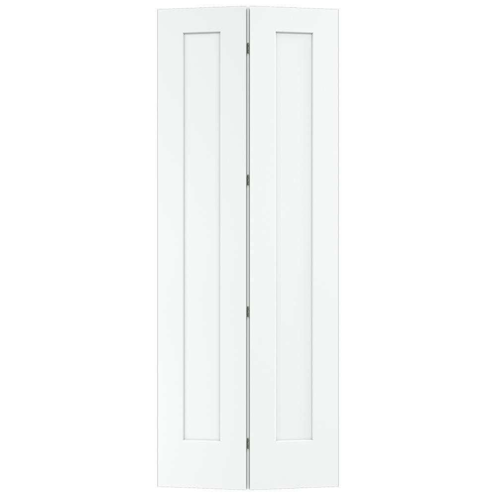 Jeld Wen 36 In X 80 In Craftsman Desert Sand Painted Smooth Molded Composite Mdf Closet Bi Fold Double In 2020 Bifold Closet Doors Folding Closet Doors Laundry Doors