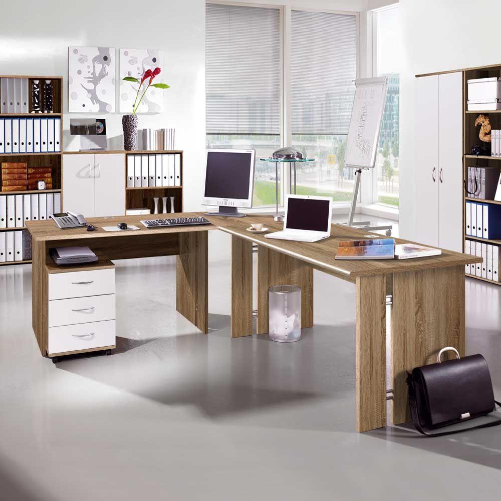 Eckschreibtisch büro  PC Schreibtisch in Eiche Sonoma 240 cm Jetzt bestellen unter ...
