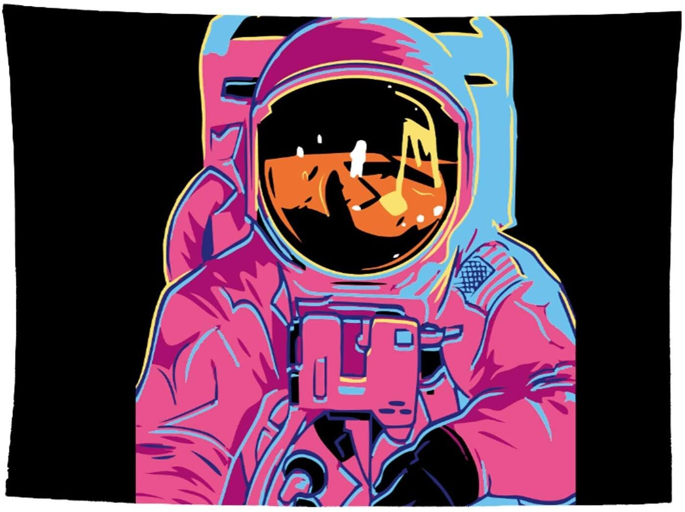 Astronaut Tapestry Wall Hanging Cool Spaceman Tapestry Colorful Anime Tapestry Wall Art for Guys Boys Children Dorm Bedroom