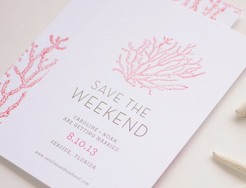 Seaside Save The Date Card 50