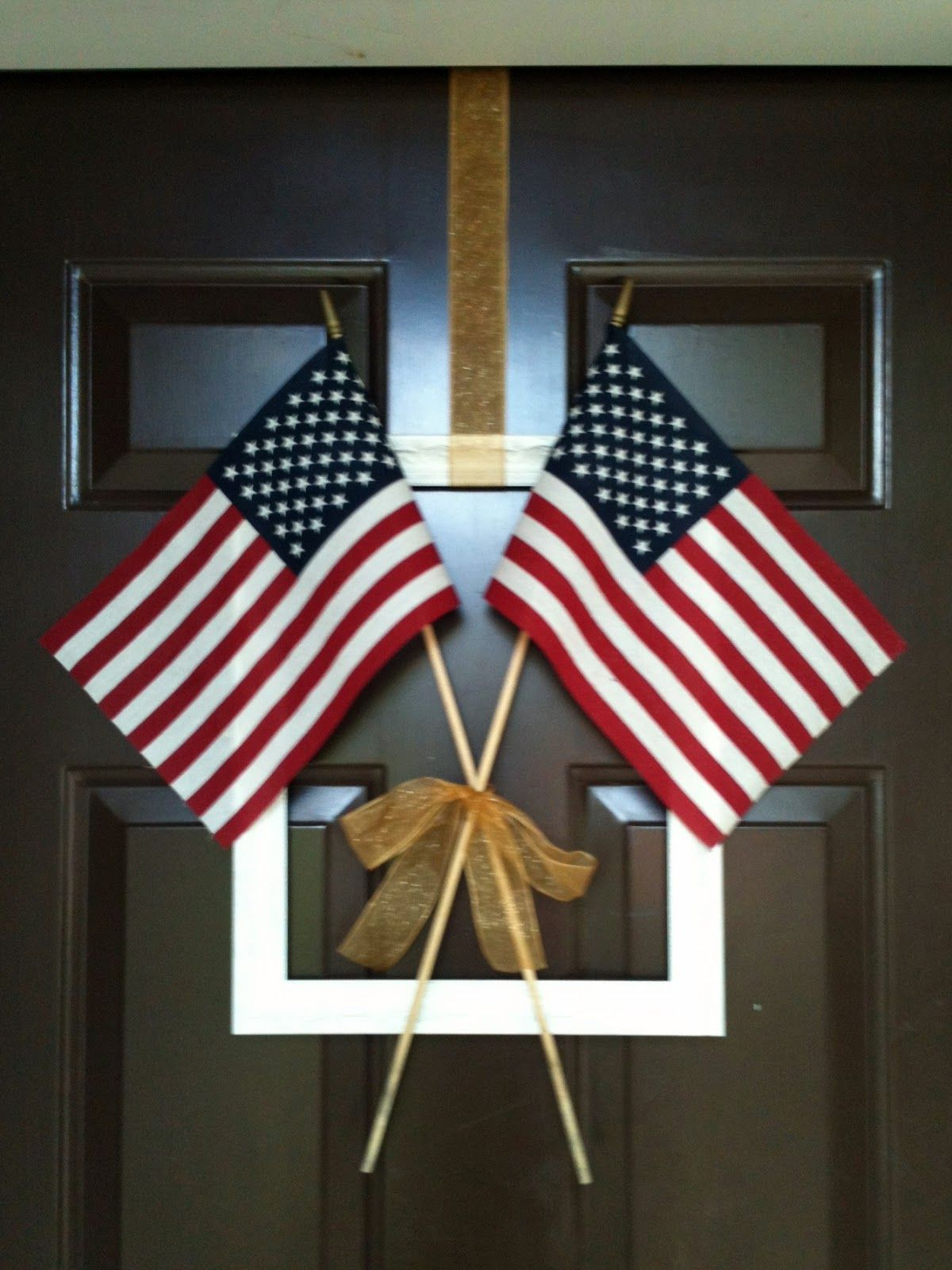 simple fourth of july door decor my projects pinterest