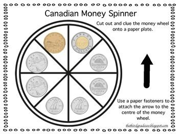 Canadian Money Freebie Educational Activities Money