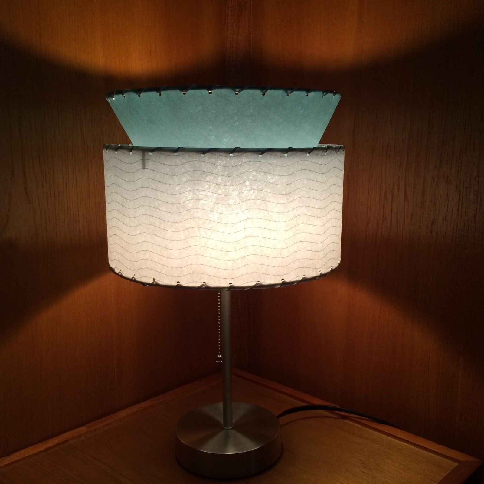 Mid Century Modern Lamp Shades Amusing Mid Century Modern Style Fiberglass Custom Tiered Lamp Shade  Ebay Design Decoration