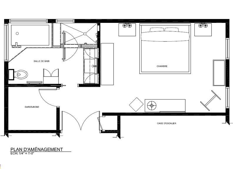 Nouvelle Salle De Bain - Plan Architectural Et électrique - 2014