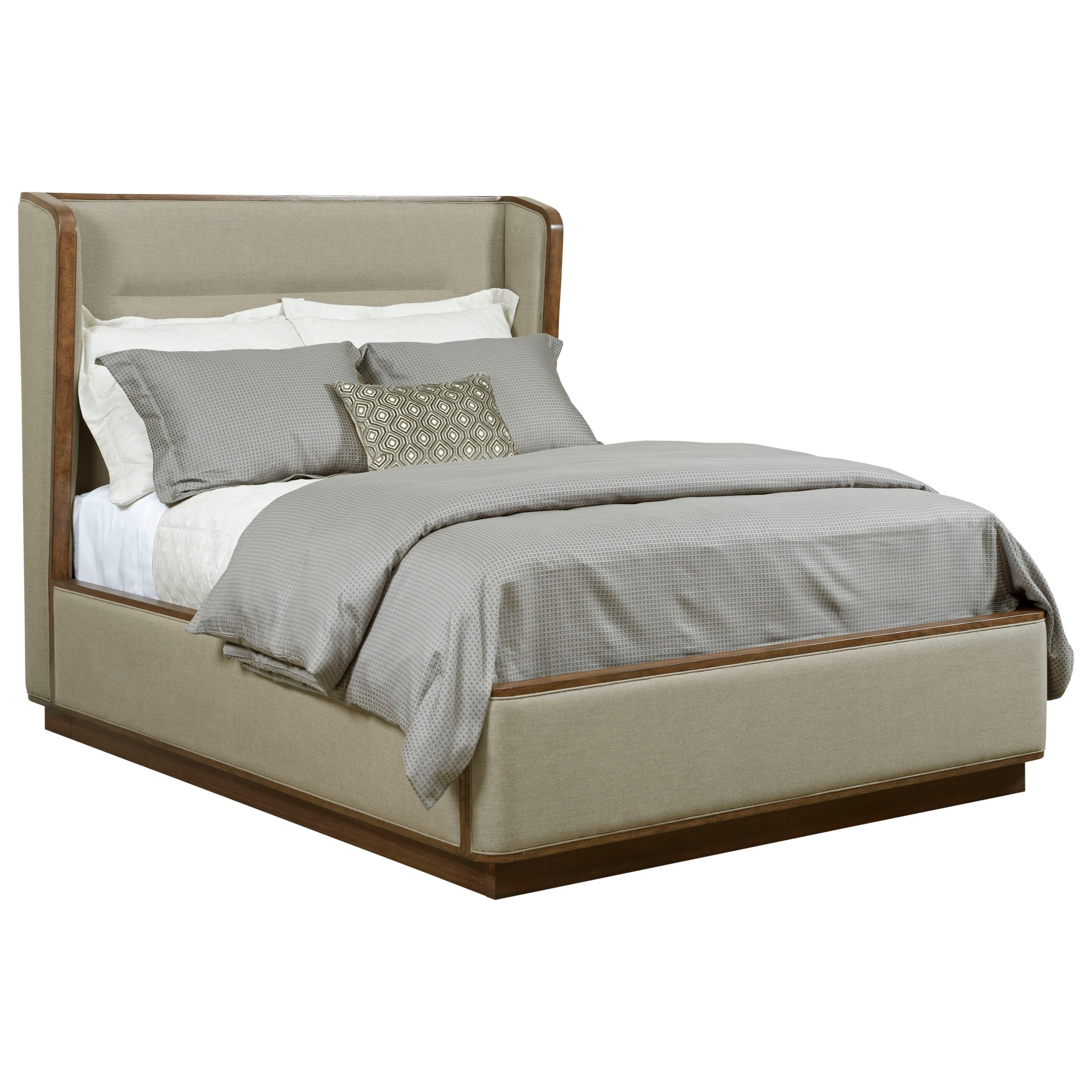 Modern Synergy Contemporary Queen Astro Upholstered Bed With