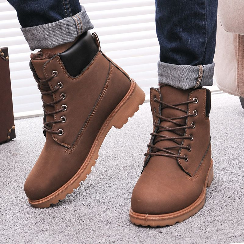 Men's Boots New Arrival 2018 Winter Men Black Ankle Boots Pointed Toe All Match Fashion Casual Men Shoes Slip On Men Boots Easy To Repair Men's Shoes