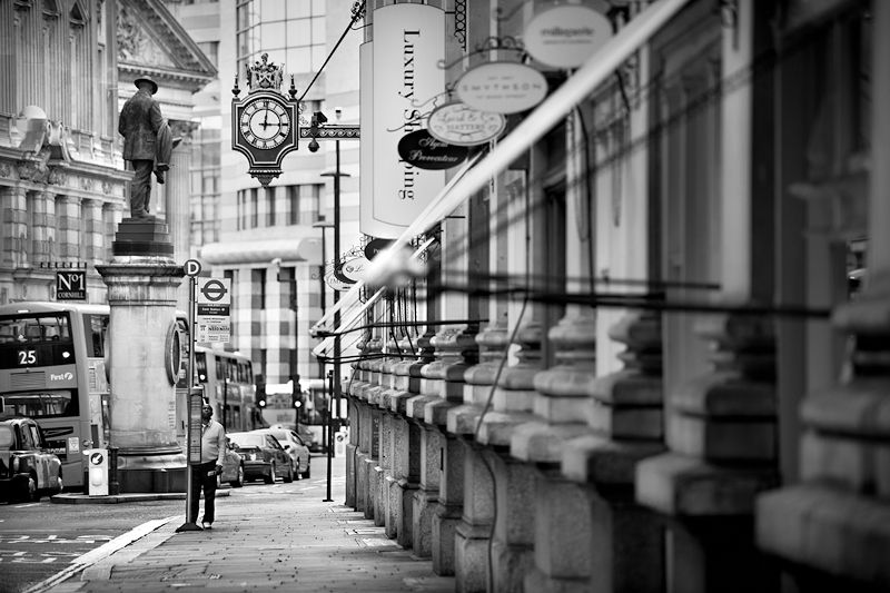 Cornhill city of london black and white photo678