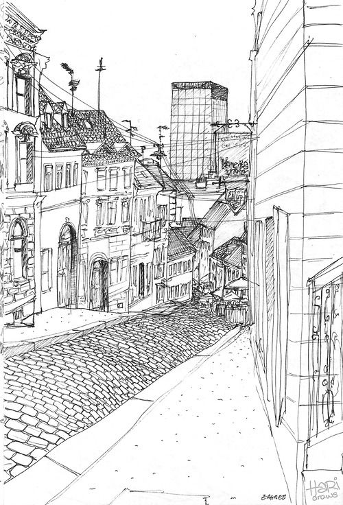 Eatsleepdraw Sketches From My Holidays Zagreb Croatia By Zagreb Watercolor Disney Sketches