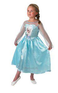 Rubie's 889542L Elsa Frozen – La Reine des Neiges – deguisement Disney Robe – 7-8 ans
