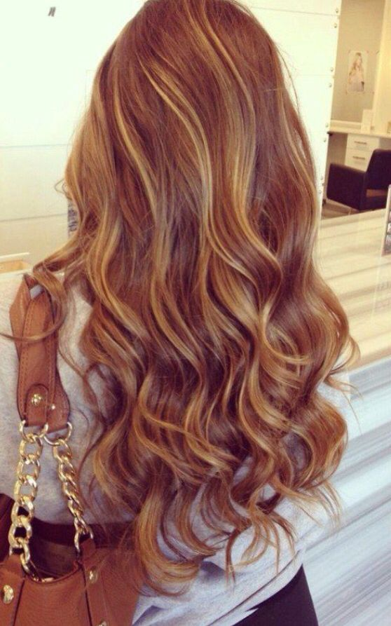 natural caramel brown hair color with honey blonde