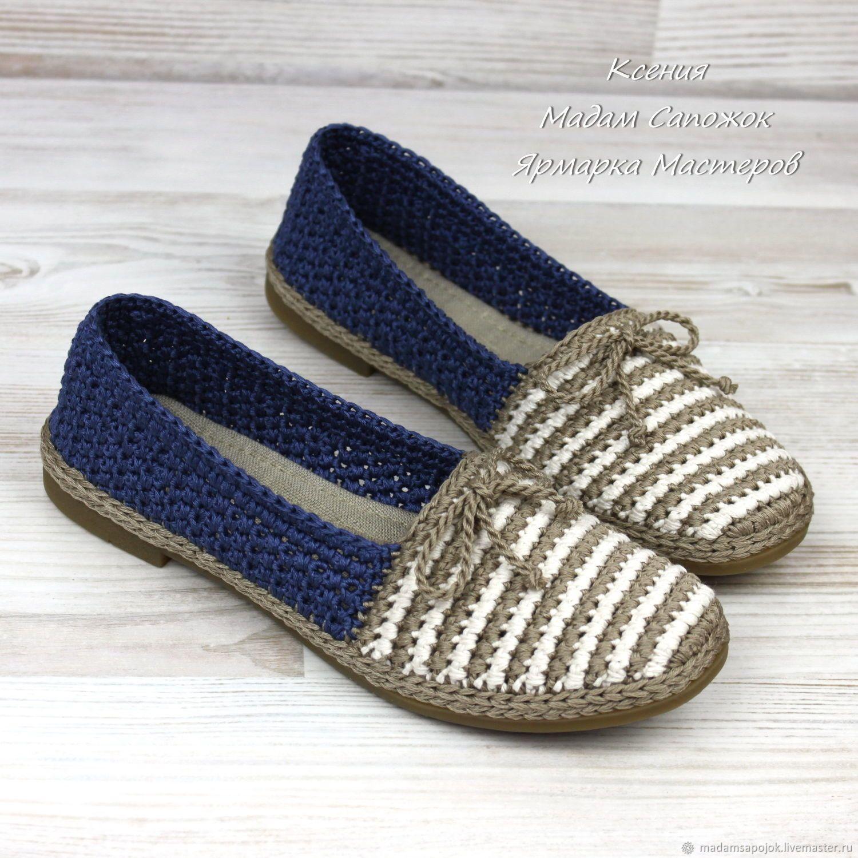 Обувь ручной работы. Ярмарка Мастеров - ручная работа. Купить Туфли женские  летние вязаные. f60601630ea
