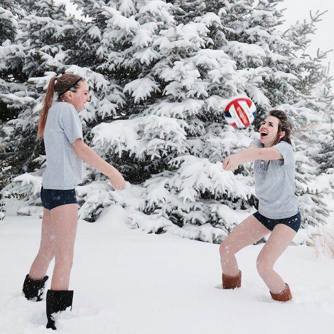 #winter #volleyball #noproblem #tryit
