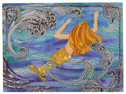 Free Mermaid Applique Pattern | Mermaids Garden Fusible Applique ... : mermaid quilts - Adamdwight.com