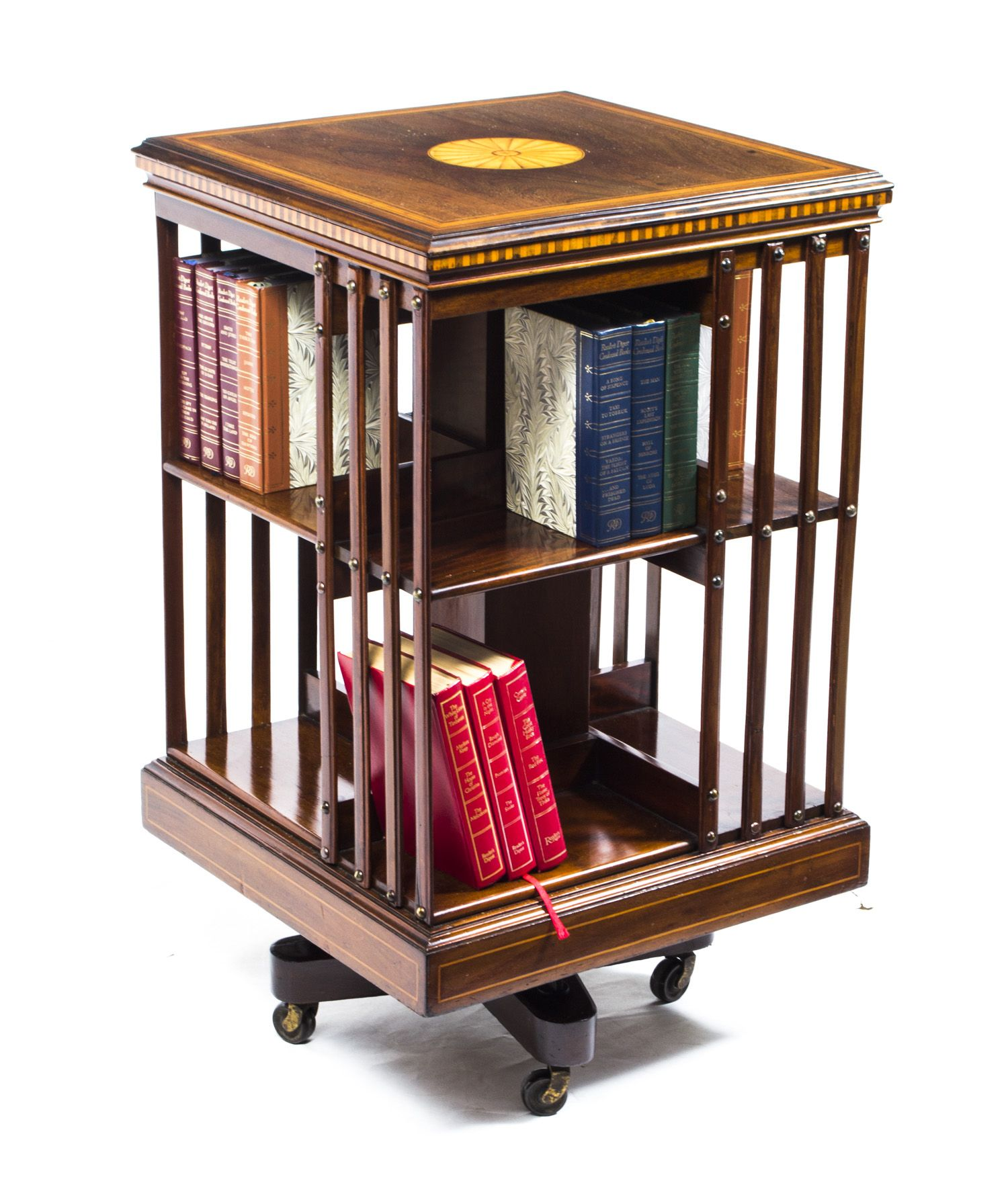 revolving h oak product english bookcase revolveweb by century s jewell