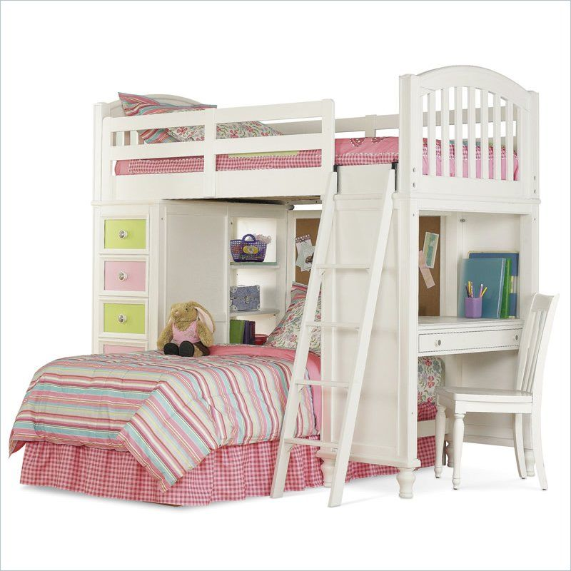 Best Girls Bunkbed With Desk And Drawers Com Imagens 640 x 480