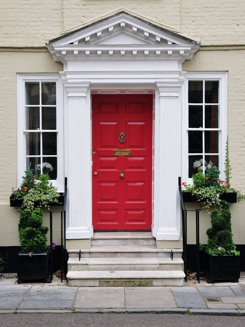 For the perfect front door this is Mylands of London Fynedon Red ...