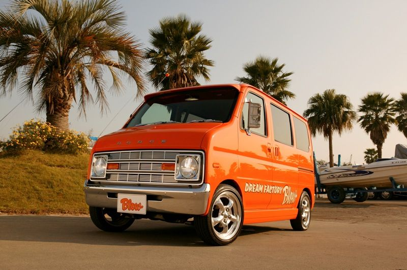ホンダの軽自動車、バモスをダッジバン風にカスタム改造しました。このパーツを付けた中古車も販売しています。軽ラパン,バモス,エブリイなどのカスタム改造、FRP