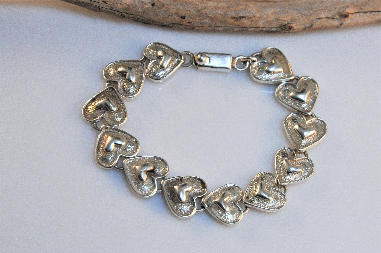 "Woven Design Cuff Bracelet 7 1//4/"" 925 Sterling Silver Real Diamond Ball"