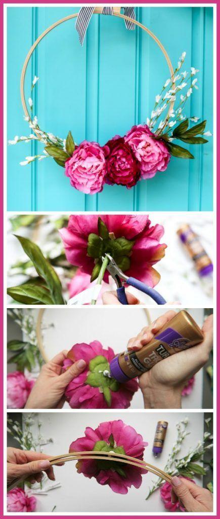 Photo of Flower Embroidery Hoop Wreath – Sugar Bee Crafts