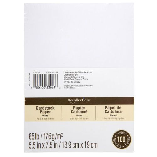 5 5 X 7 5 Cardstock Paper By Recollections 100 Sheets Blank Card Template Envelope Template Recollections