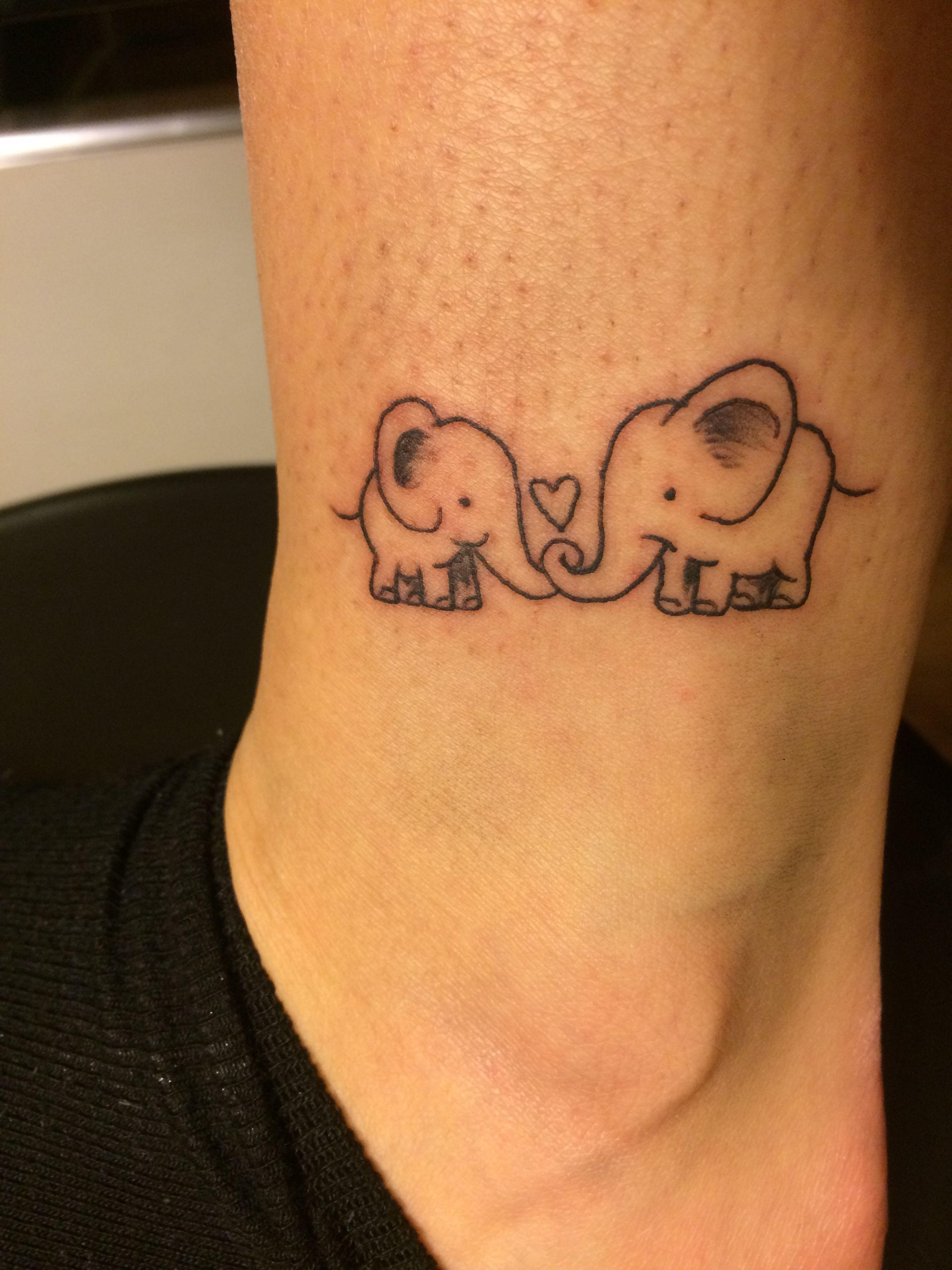 elefante elefantino tatuaggio