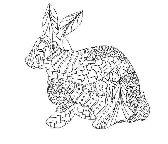 Pin von Barbara auf coloring rabbit | Pinterest