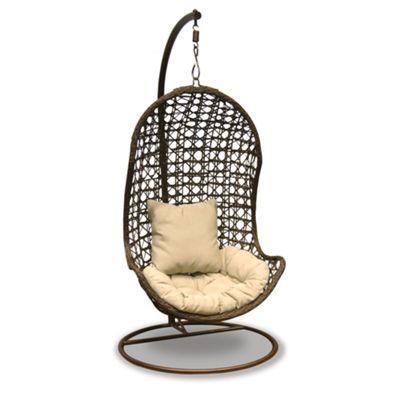 Debenhams Brown hanging chair- at Debenhams.com | Garden furniture ...