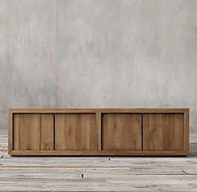 Russian Oak Panel Media Collection  Reclaimed Natural Oak | RH