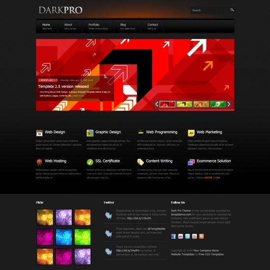 Html Css Web Templates For Free Download Css Website Templates Website Template Menu Template