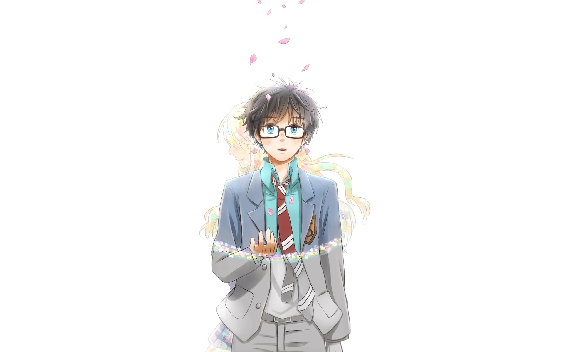 Anime Your Lie In April Kaori Miyazono Kousei Arima Papel De