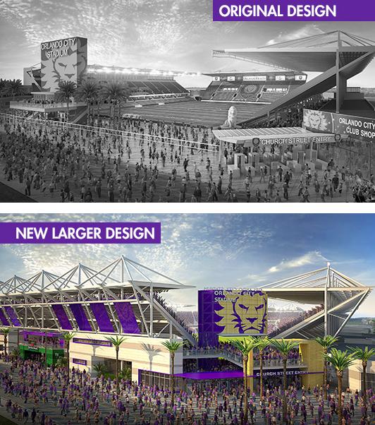 Orlando's soccer specific stadium