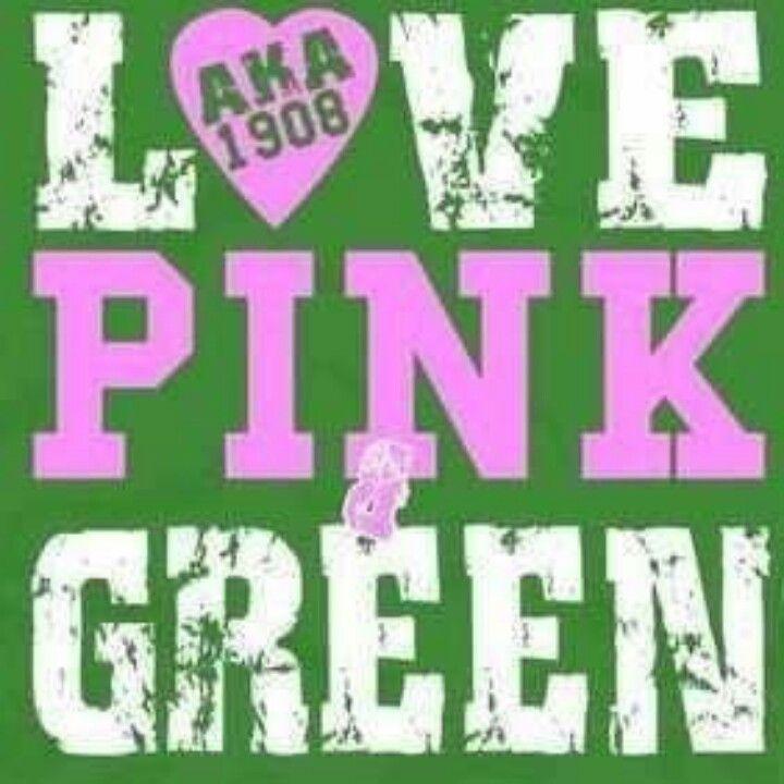 Love pink & green