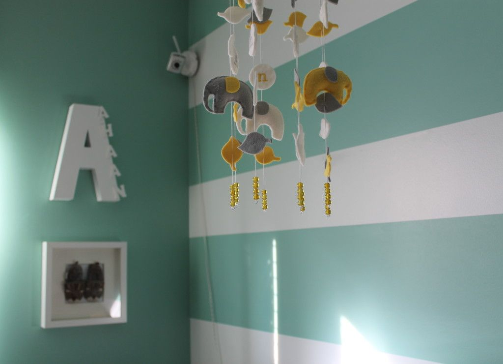 Ahaan's Mint Green, Gray and White Neutral Nursery ...