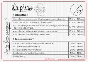La Phrase As Tu Bien Compris Vrai Faux La Classe Bleue Cm1 Cm2 La Classe Bleue Site Ecole Grammaire Ce1