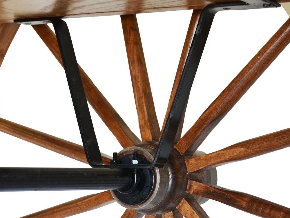 Axle Bracket For Cart Wheel Kit Pair Decor Wagon Wheels Cart