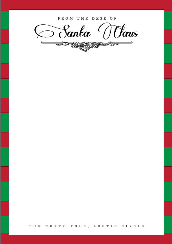 photo regarding Letter From Santa Template Printable titled Santa Letterhead Template Holiday seasons Santa letter template
