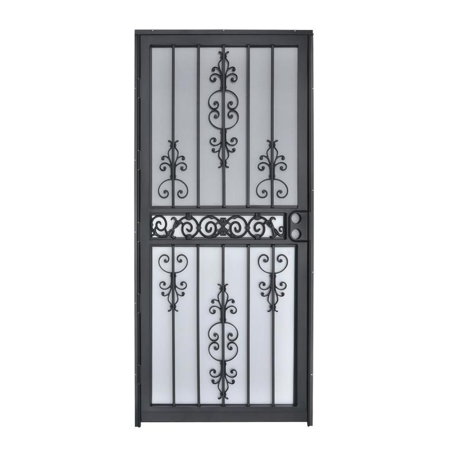 Gatehouse Black Steel Recessed Mount Single Security Door Common 36 In X 80 In Actual 35 In X 78 5 In Security Door Steel Front Door Steel Security Doors