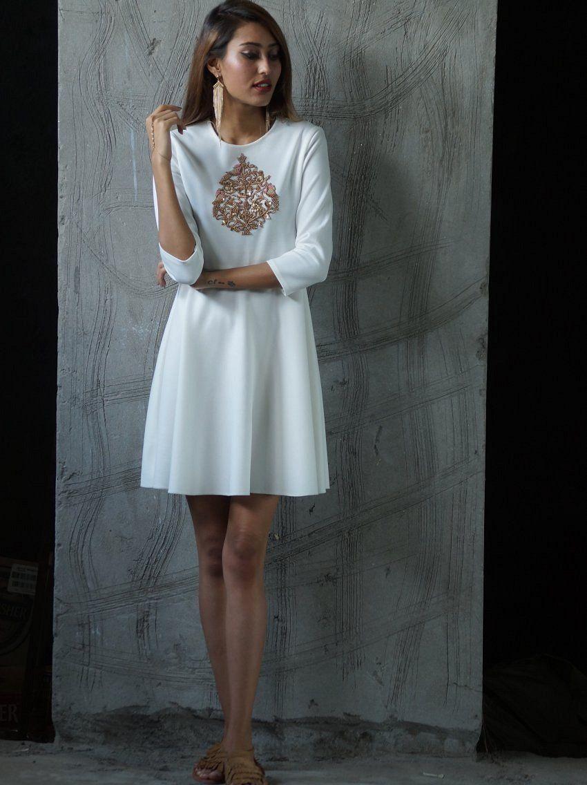 offwhite #ivory #shortdress #promdress #partydress #fashion ...