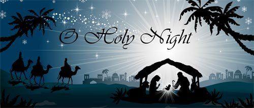Outdoor Decoration O Holy Night Nativity Scene Christmas