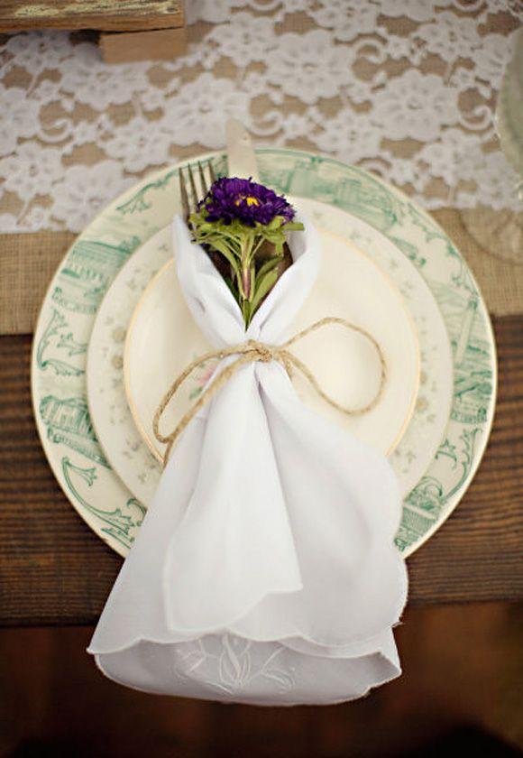 decoracin para plato de boda con flores naturales