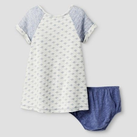 Target Baby Girl Clothes Baby Girls' A Line Dress Cat & Jack™  Blue Iris  Target  Clothing