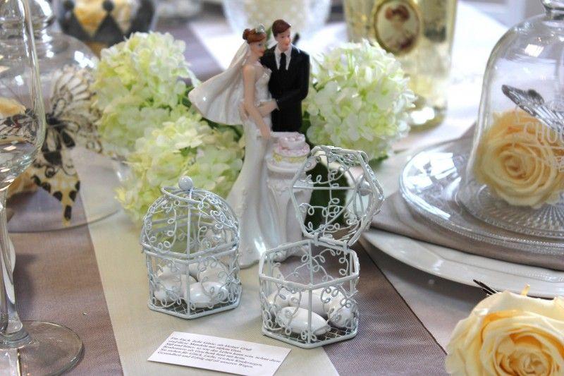 Hochzeit Gastgeschenk Voliere Weiß Mandeln Geschenk Gäste