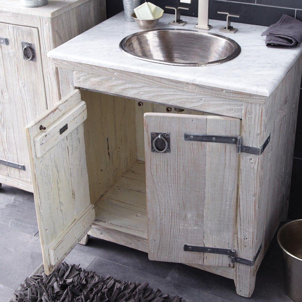 Americana Reclaimed Wood Bathroom Vanity Driftwood Native Trails