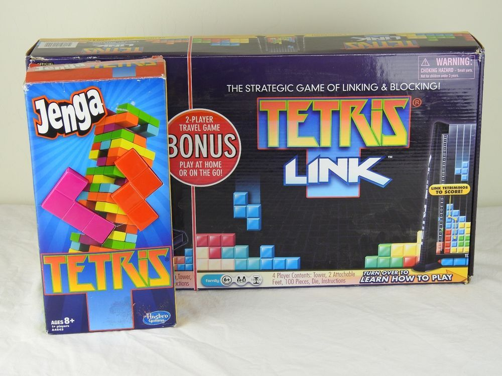 Tetris Link Complete Out Of Production And Tetris Jenga Lot Of 2
