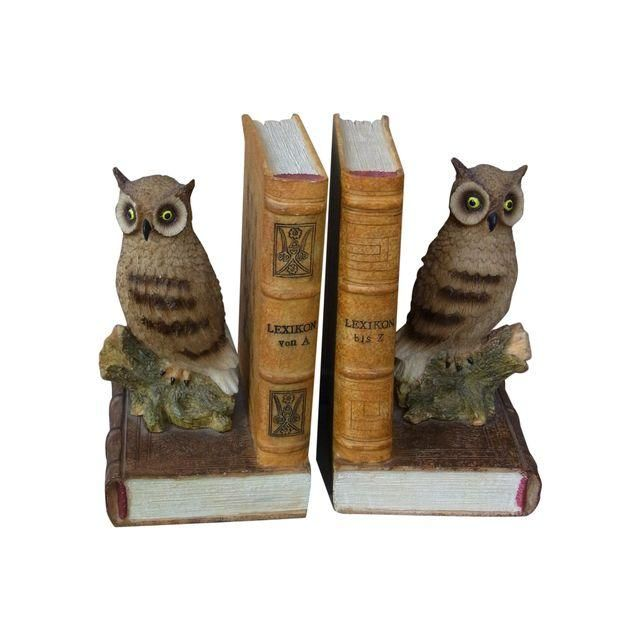 Image of Vintage Owl Bookends - A Pair