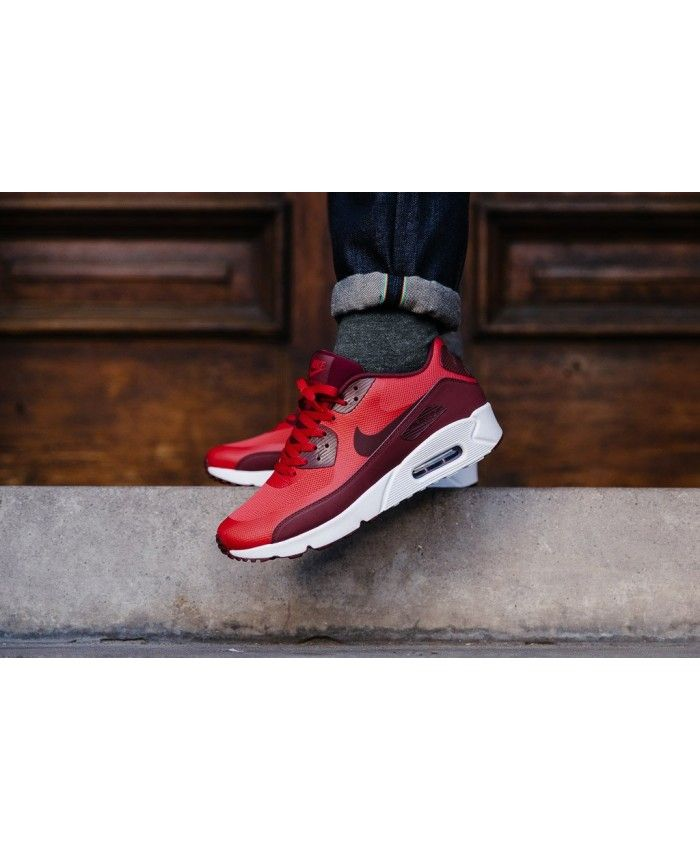 cfe78047f01 Nike Air Max 90 Ultra 2.0 Essential University Red Team Red White Mens  Trainers Cheap